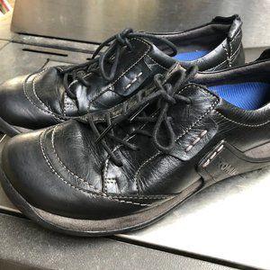 Romika Women's Black Leather Shoes 38/7-7.5M